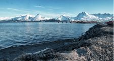 Valdez, AK harbour with an amazing vista of the Chugach Range